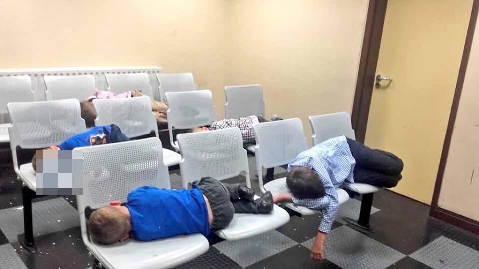 Homeless children pictured sleeping inside Irish police stations