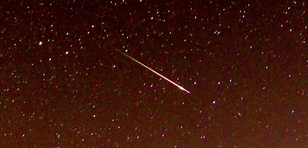Picture supplied by Chris Lyons/Bav Media 07976 880732. Picture dated August 11th shows a Perseid meteor in the sky above Ross on Wye in Herefordshire at around 1.20am this morning. Photographers across the UK have been capturing the first pictures of the Perseid meteor shower as it reaches its peak this weekend. The annual meteor shower can produce between 50 and 100 shooting stars per hour and conditions this year are expected to be ideal with the darkened New Moon keeping the skies dark for the shower to be seen. Nick Edgington managed to get a good view of a Perseid last night (Fri), together with the Milky Way, Mars and Saturn. He took a picture of the photobombing Perseid looking across Loch Etive, near Taynuilt in Argyll on the West coast of Scotland. Chris Lyons also too a picture of a Perseid Fireball in the sky above Ross on Wye in Herefordshire at around 1.20am this morning. See copy catchline Perseid meteor pics