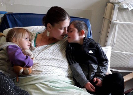 A ?hidden? tumour led to the death of a young mum just three months after she first went to see her GP, an inquest heard. Sammi Fox, 29, had been suffering from uncomfortable stomach problems when she went to her doctors on July 19 last year. Caption: Sammi Fox, 29, of North Shields, pictured with her five-year-old son Bobby (right) and niece Brooke (left)