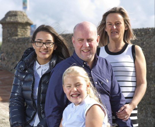 Muir Fulton went on holiday to Majorca and got an eye infection from an outdoor swimming pool, he had to come back early and had an emergency operation that the surgeon Mr. Sathish Srinivasan said only had a 20% possibility of success. Muir with family, Elaine, Amie & Zione Photograph by Jamie Williamson ? 2018