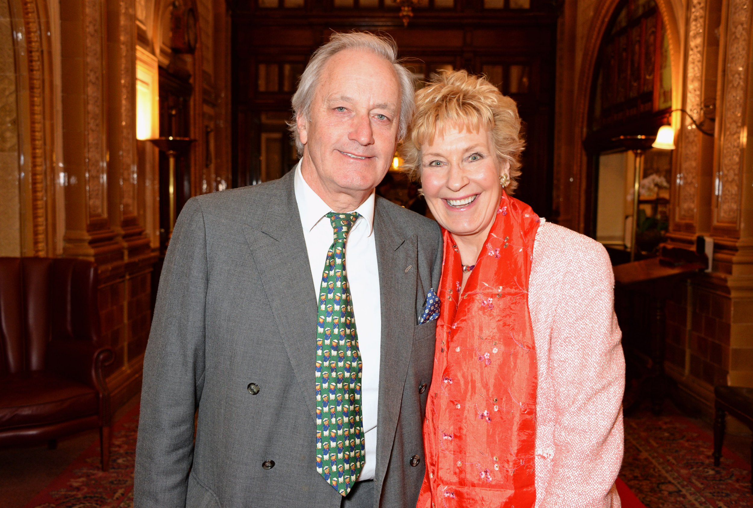 "LONDON, ENGLAND - APRIL 10: Neil Hamilton (L) and Christine Hamilton attend an after party following the press night performance of ""Handbagged"" at the Royal Horseguards hotel on April 10, 2014 in London, England. (Photo by David M. Benett/Getty Images)"