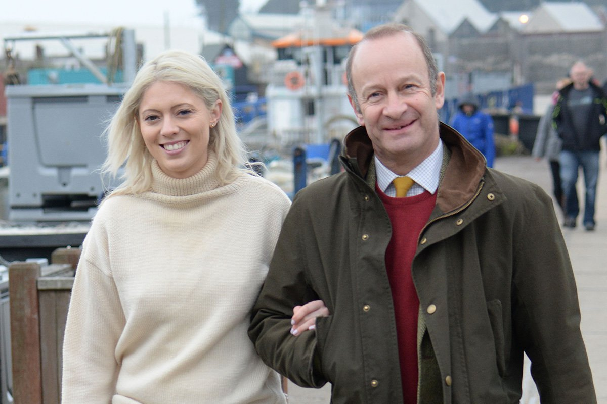 Former UKIP leader Henry Bolton and his girlfriend Jo Marney attend the fishermen's protest at Whitstable Harbour in Whitstable, Kent. Featuring: Jo Marney, Henry Bolton Where: Whitstable, Kent, United Kingdom When: 08 Apr 2018 Credit: Steve Finn/WENN.com