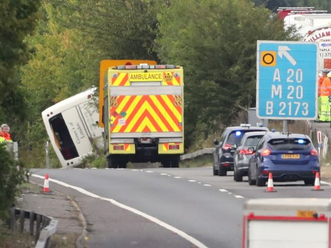Children among 41 people injured when coach overturned on M25