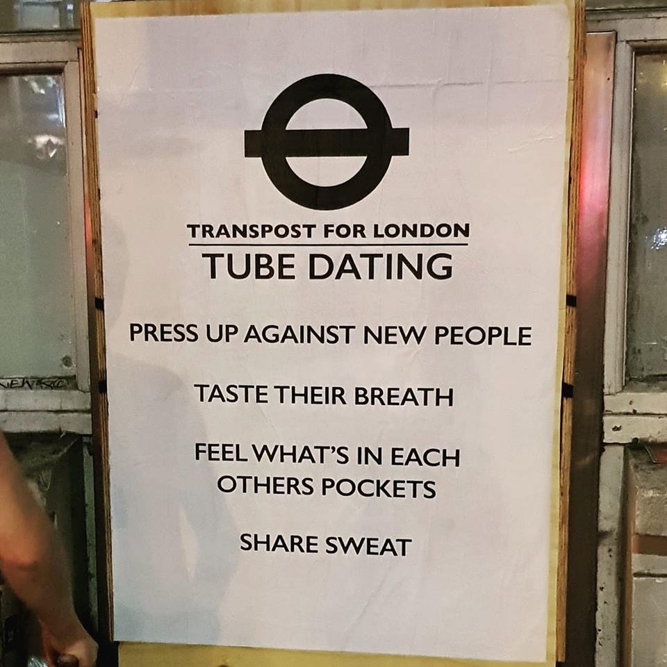 'Tube Dating' signs appear as Foka Wolf strikes again