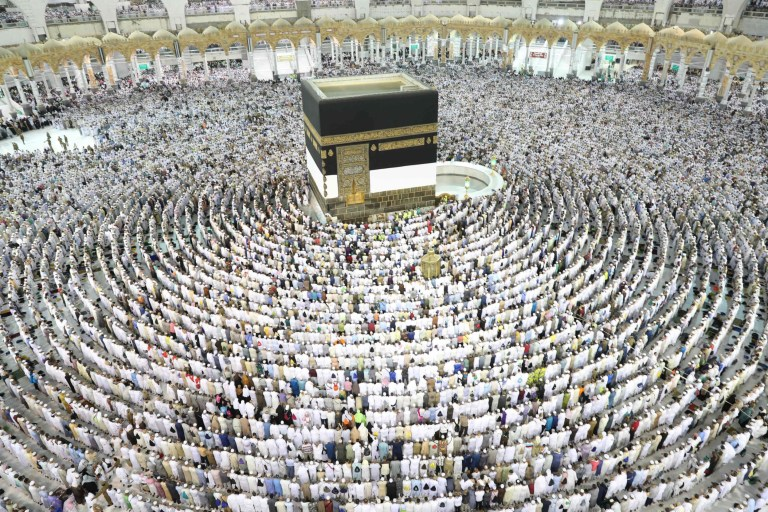 Stunning images show Mecca preparing for the world's single largest