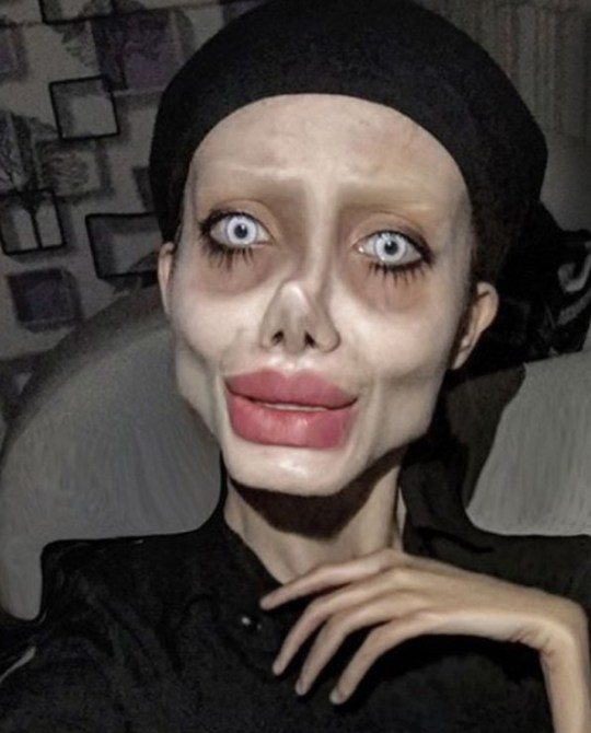 Angelina Jolie 'lookalike' who used surgery, make-up and Photoshop to transform into the star reveals her REAL face in side-by-side snaps