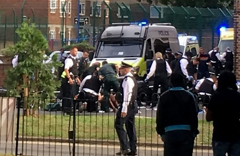 Four children stabbed in south London with one boy being