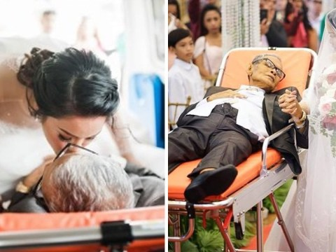 Terminally ill dad gets his final wish to take his daughter down the aisle