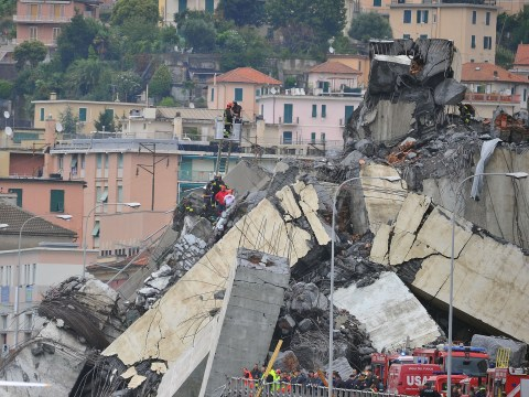 Girl, 9, found dead with family in Genoa bridge rubble as death toll rises to 42
