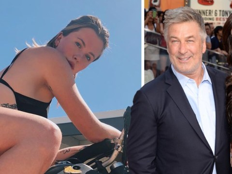 Alec Baldwin is not here for daughter Ireland's selfie as she straddles motorbike