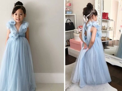 Mum makes Crazy Rich Asians-inspired dress for five-year-old to embrace her heritage