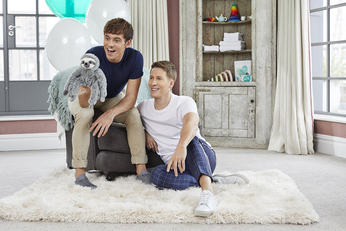 Tom Daley Pampers Pure Partner 2 **PAMPERS PR PIC**