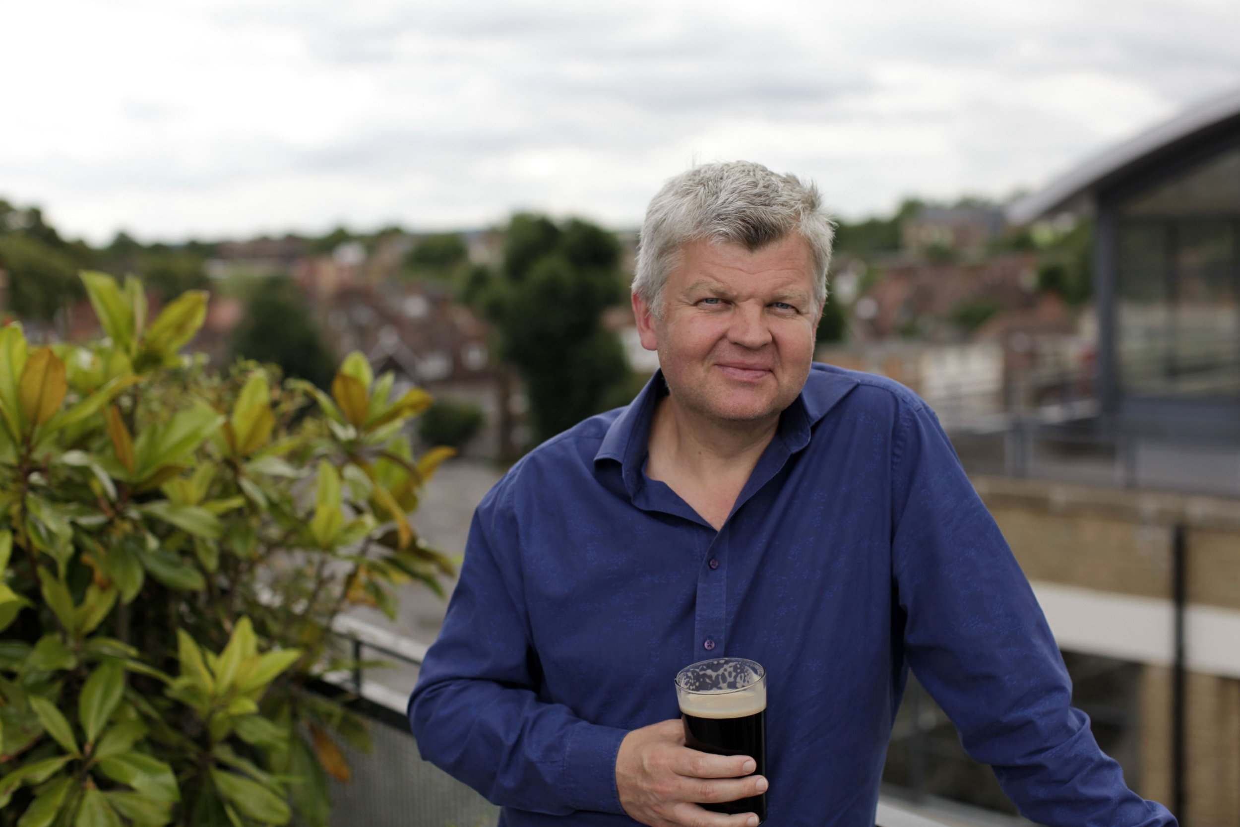Television programme: Drinkers Like Me - Adrian Chiles - TX: n/a - Episode: Adrian Chiles ??? Drinkers Like Us (No. n/a) - Picture Shows: Adrian Chiles with pint of Guiness - (C) Ricochet Ltd - Photographer: Jonathan Young