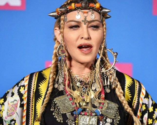 Mandatory Credit: Photo by REX/Shutterstock (9795341ap) Madonna MTV Video Music Awards, Press Room, New York, USA - 20 Aug 2018
