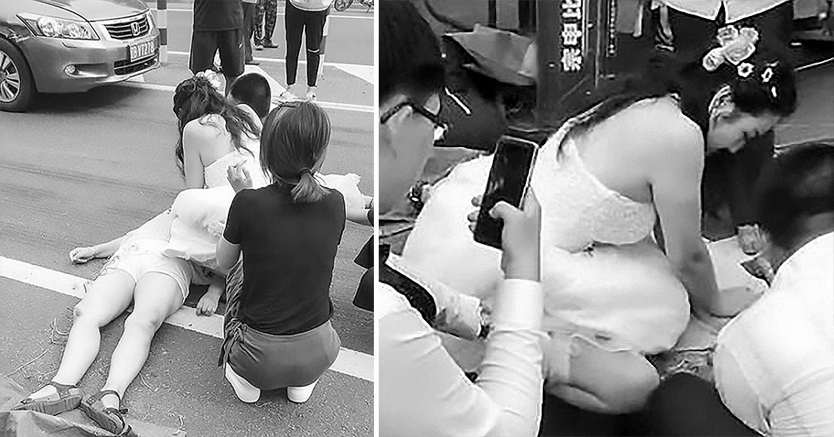 Bride interrupts her wedding day to perform CPR on car crash victim