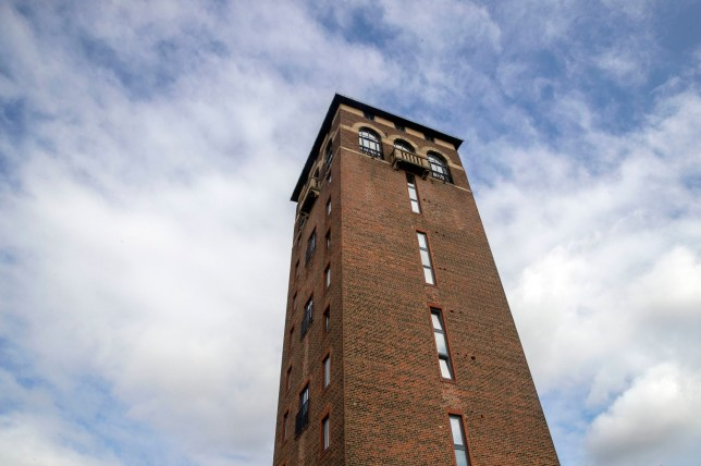 A general view of Shenley Tower in Radlett, Hertfordshire, where the penthouse flat has gone on sale. PRESS ASSOCIATION Photo. Picture date: Monday August 20, 2018. The 3 bedroom flat sits over two floors of the tower which was originally used as a water tower on the site of a hospital and was built in 1932 before being converted 12 years ago into flats. See PA story MONEY Tower. Photo credit should read: Steve Parsons/PA Wire