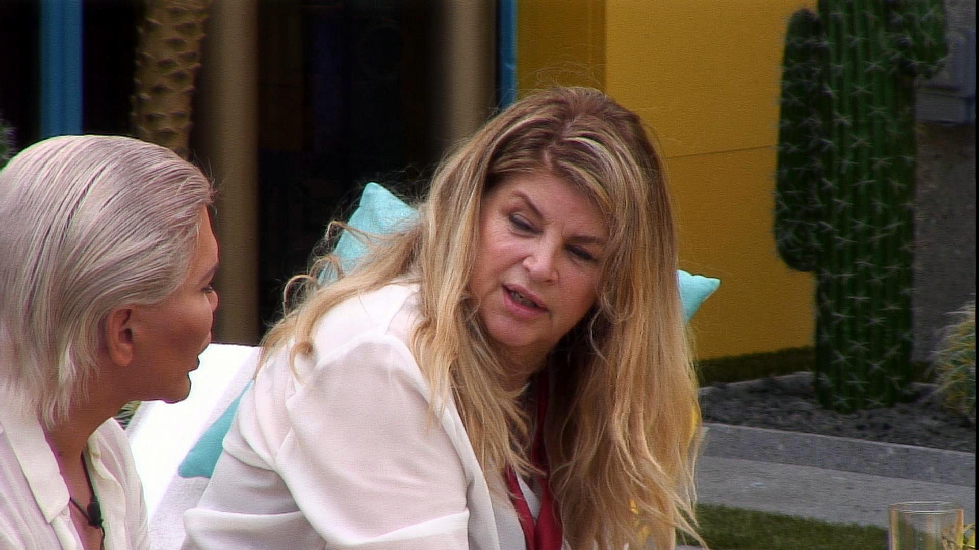 Celebrity Big Brother's Kirstie Alley refuses to discuss Scientology despite grilling from Rodrigo Alves: 'Read a book'