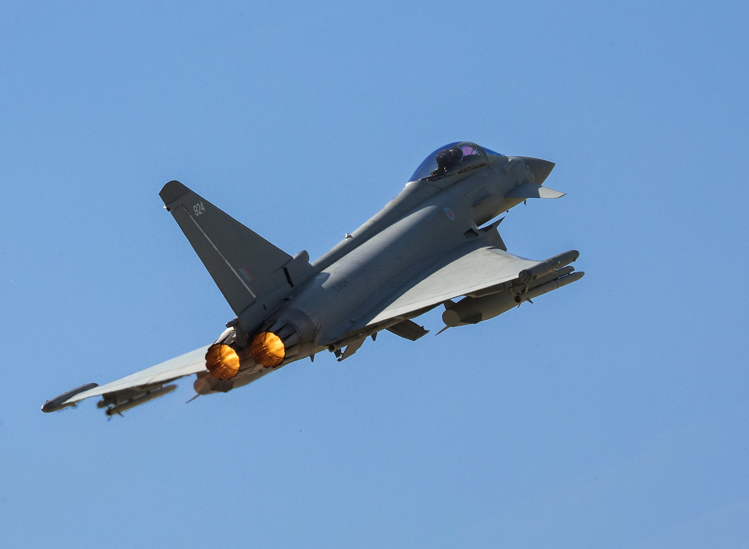 RAF Typhoons catch Russians flying where they shouldn't for second time this week