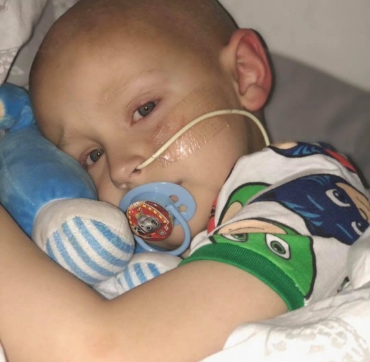 The ?devastated? parents of a brave young cancer patient have announced an end to their fundraising efforts after learning his treatment will cost over a MILLION dollars. Five-year-old Charlie Procter has been undergoing chemotherapy for Hepatoblastoma, a rare form of cancer. caption: Charlie Procter