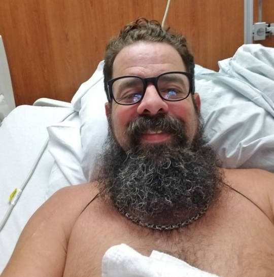 (Picture: GoFundMe) Blain Shelton, from Texas, was bitten by a Shark off Boliver Island in Galveston County