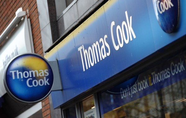 """(FILES) In this file photo taken on November 22, 2011 a branch of Thomas Cook is pictured in Birkenhead, in north-west England. - Tour operator Thomas Cook moved all its customers from a hotel in Egypt after a British couple staying there died in circumstances their daughter, on August 24, called """"suspicious"""". The company said it was unclear what had caused the deaths on Tuesday of the Britons, named by Egyptian authorities as 69-year-old John and Susan Cooper, 63, from the town of Burnley in northern England. The family had been staying at the plush Steigenberger Aqua Magic Hotel in the Red Sea resort of Hurghada. (Photo by Paul ELLIS / AFP)PAUL ELLIS/AFP/Getty Images"""