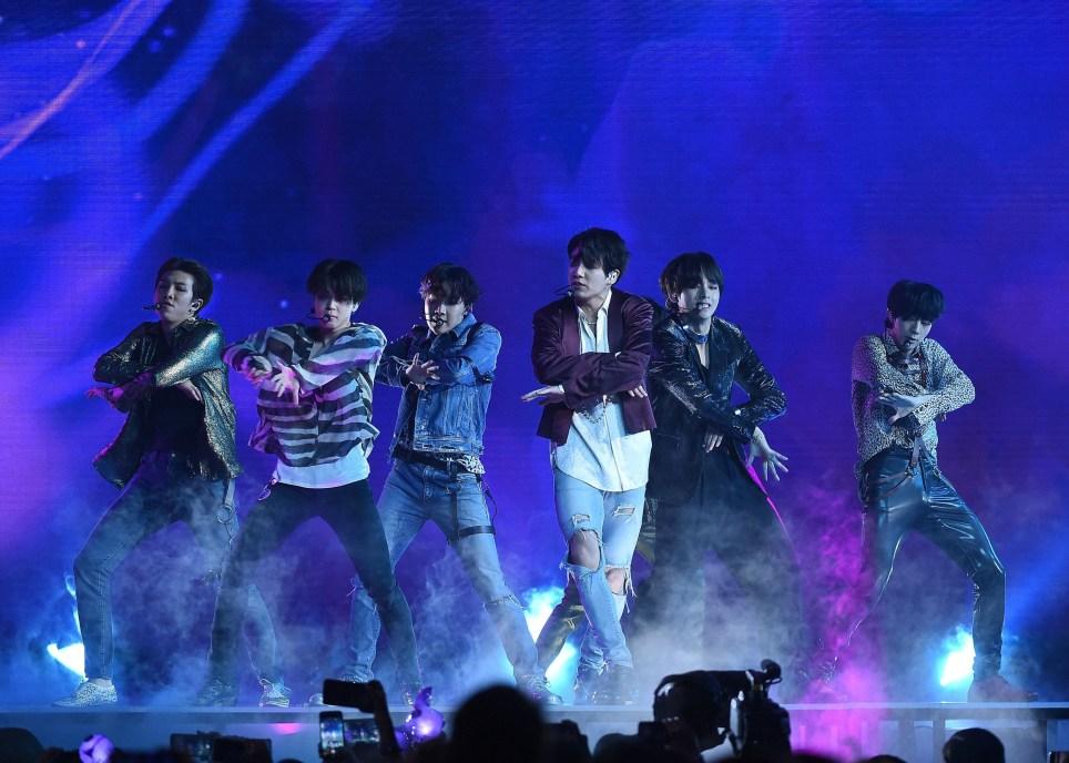 Mandatory Credit: Photo by Frank Micelotta/REX/Shutterstock (9686817l) BTS,Jungkook,Jimin,V,Suga,Jin,j-hope Billboard Music Awards, Show, Las Vegas, USA - 20 May 2018