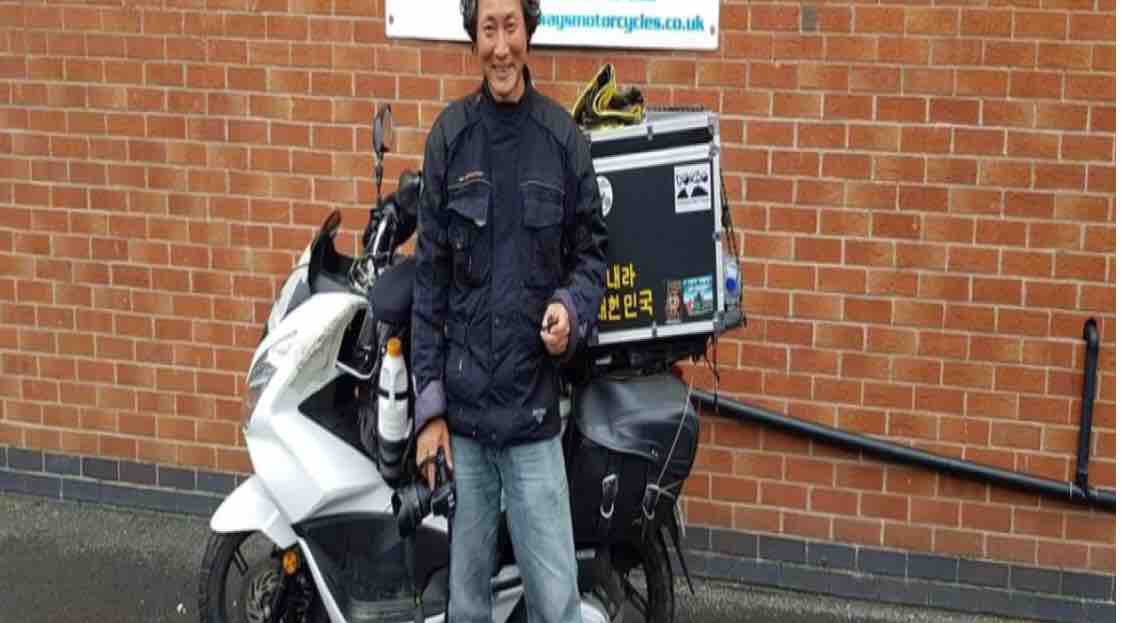 South Korean biker who rode across the world has his scooter stolen in Manchester