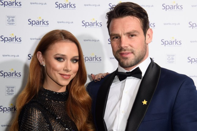 Mandatory Credit: Photo by Ash Knotek/REX/Shutterstock (9263269i) Una Healy and husband, Ben Foden Sparks Winter Ball, London, UK - 06 Dec 2017