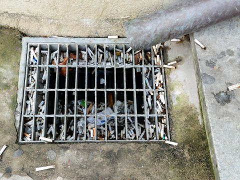 Half of smokers still think it's OK to throw cigarettes down the drain
