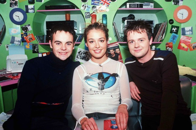Mandatory Credit: Photo by KEN McKAY/REX/Shutterstock (295958a) CAT DEELEY WITH ANT AND DEC Smtv UK Cd Chart Show, London, Britain - 1998
