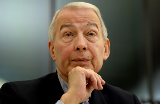 Labour MP Frank Field speaks at the All-Party Parliamentary Inquiry into Hunger in the UK in the House of Commons, London which launches a blueprint to eliminate hunger in Britain by 2020.