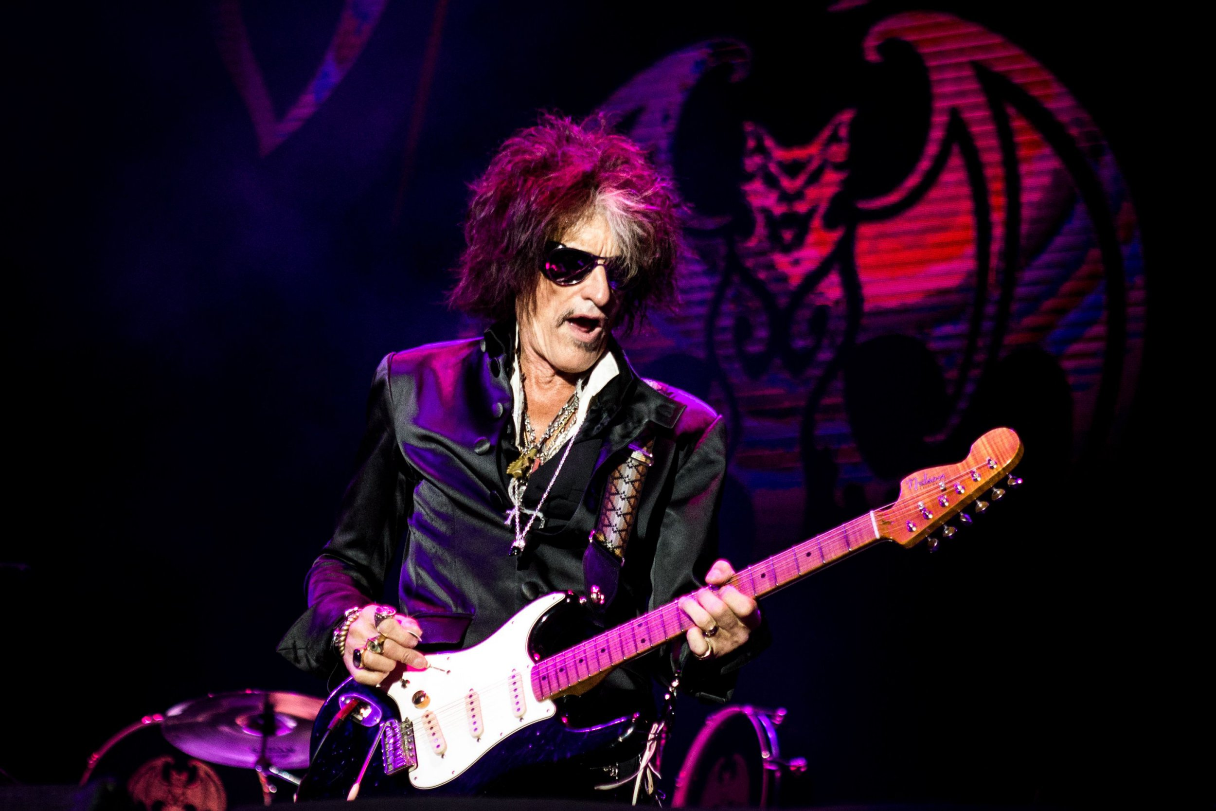 Mandatory Credit: Photo by Roberto Finizio/REX/Shutterstock (9745102c) Hollywood Vampires - Joe Perry Hollywood Vampires in concert at the Lucca Summer Festival, Italy - 07 Jul 2018