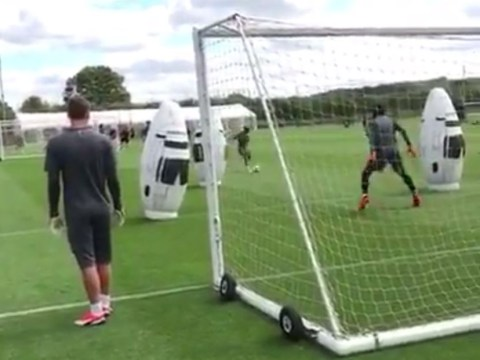 Lucas Torreira scores outrageous lob in training ahead of Manchester City clash