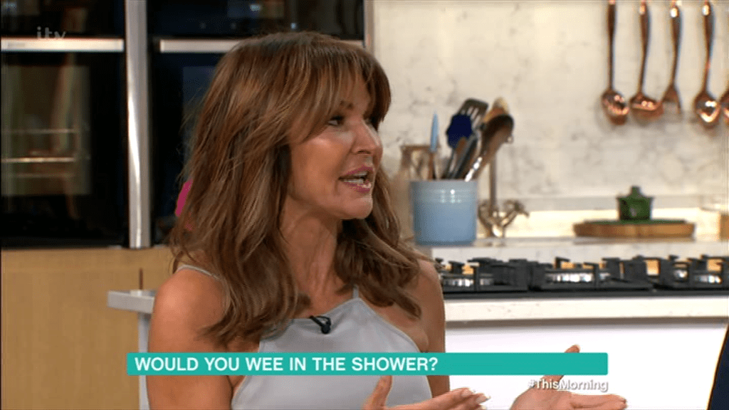 Lizzie Cundy discussed her wee habits on This Morning (Picture: ITV)