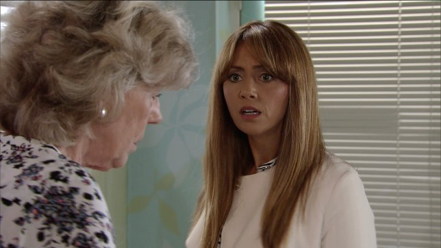 maria connor, played by samia longchambon on corrie