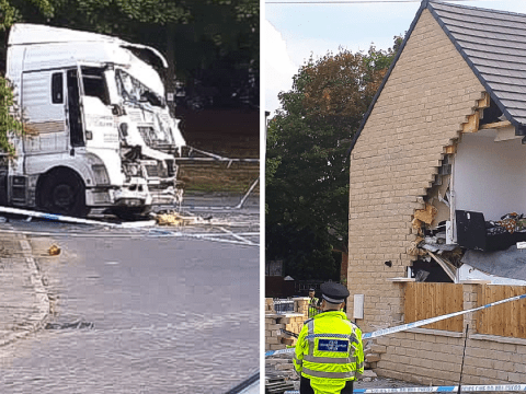 Woman killed as lorry crashes into house 'during police chase' near Barnsley