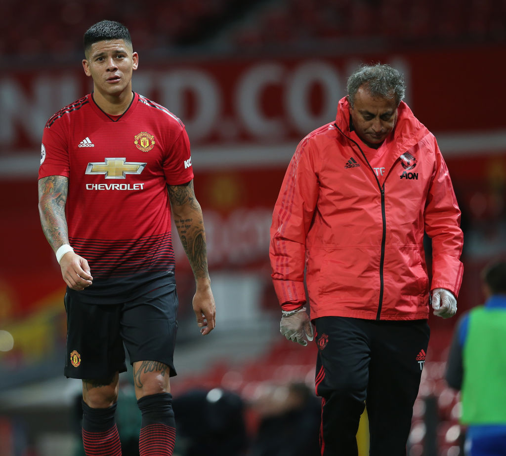Marcos Rojo suffers injury setback after making Manchester United comeback