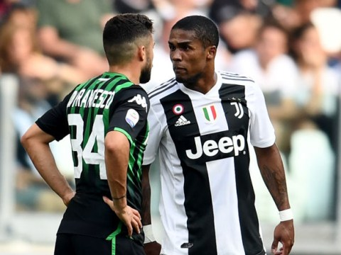 Douglas Costa slammed by Juventus coach Massimiliano Allegri after spitting at opponent