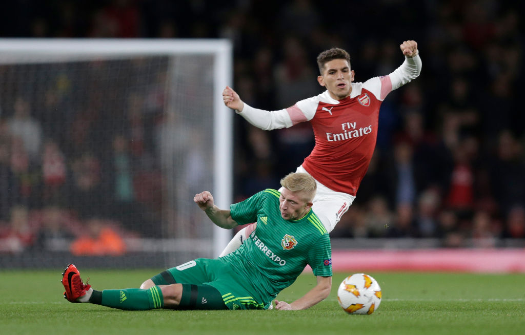 Arsenal fans fall in love with Lucas Torreira after he attempts tackle with his head