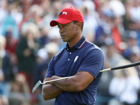Tiger Woods reacts to USA's crushing Ryder Cup defeat