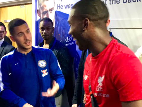 Eden Hazard tells Daniel Sturridge to continue goalscoring streak against Manchester City
