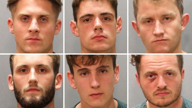 First photos of Royal Navy 'drunken sailors' arrested in Florida after night out