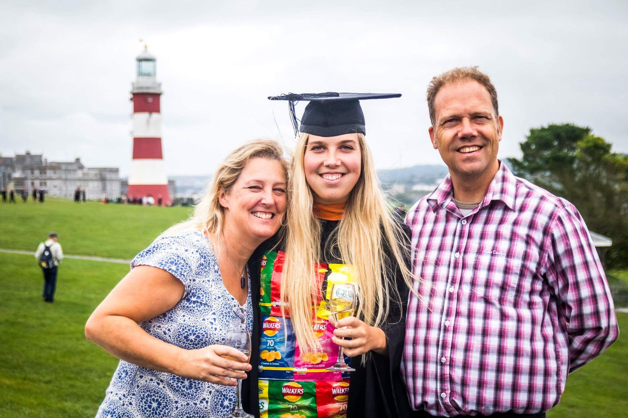 I wore a crisp packet dress to graduation to highlight the devastating impact of plastic waste on the ocean