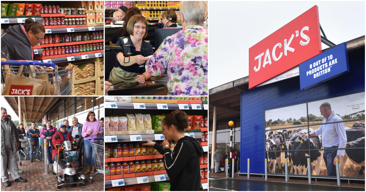 Budget supermarket Jack's which will rival Aldi and Lidl on prices opens for the first time