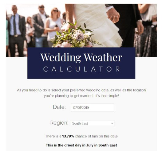Rain On Your Wedding Day.Is It Going To Rain On Your Wedding Day This Calculator Claims To