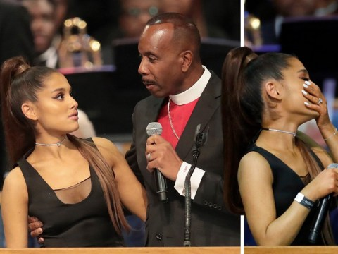 Bishop apologises for touching Ariana Grande's breast at Aretha Franklin's funeral