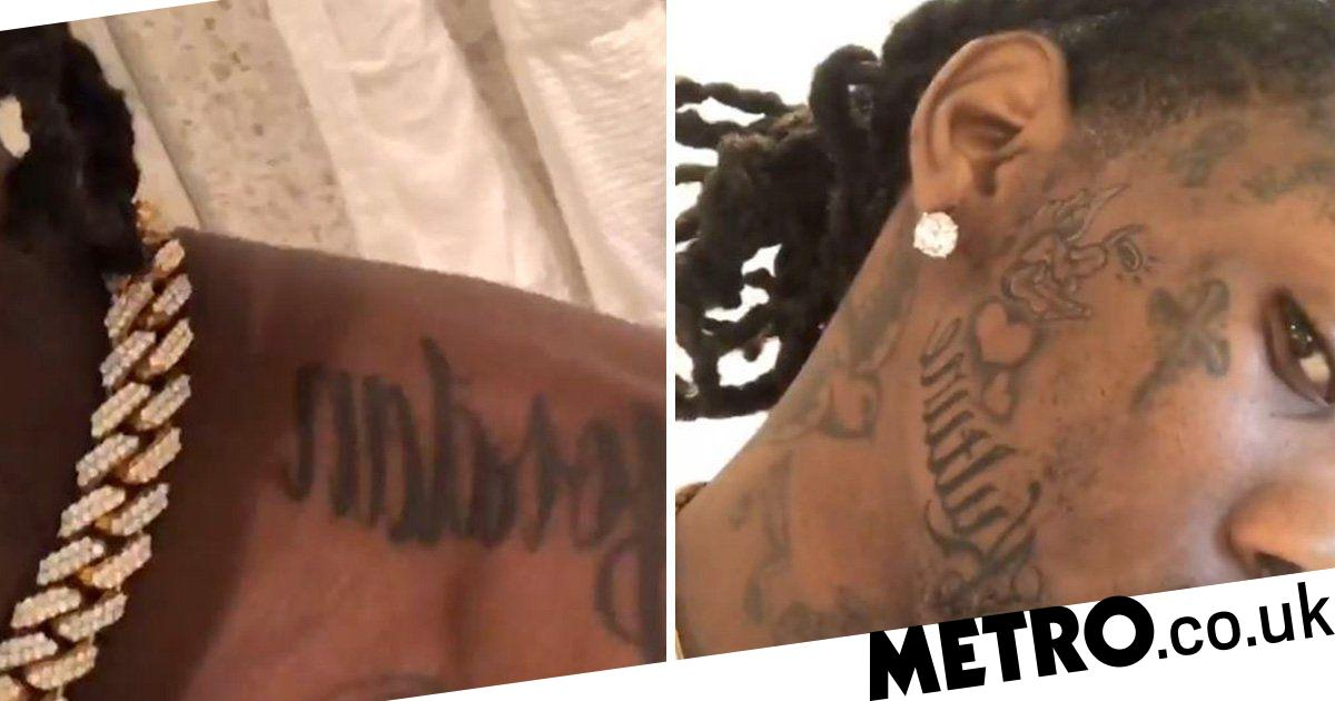 322e7dd3be9f8 Offset gets tattoo on his face in honour of daughter with Cardi B | Metro  News
