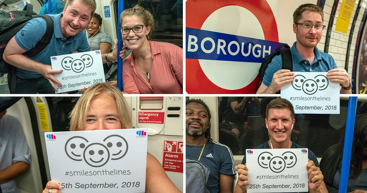 Campaign to 'get people smiling' on the tube has not gone down well