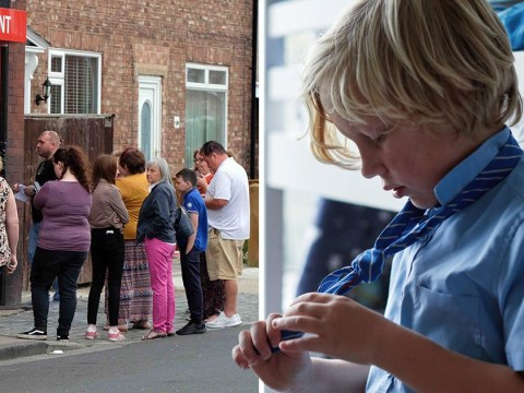 Parents queue for hours to find children's back-to-school uniforms aren't ready