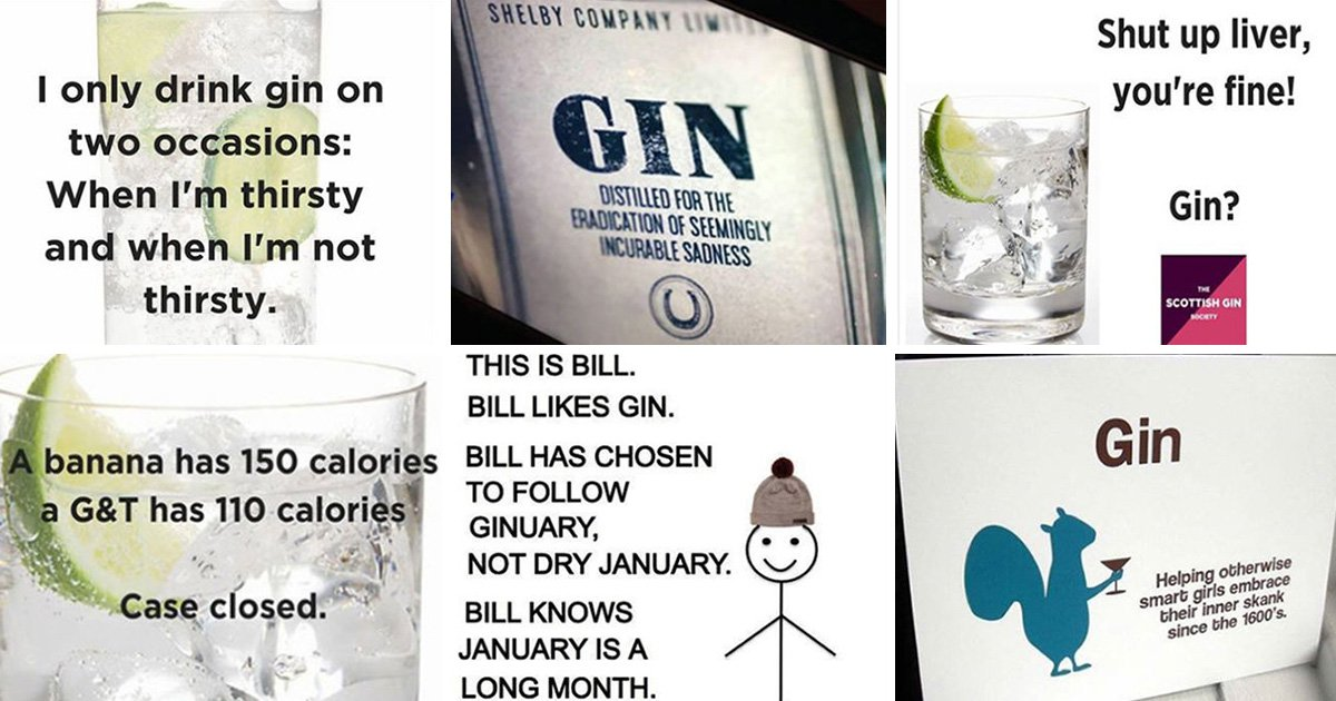 Scottish Gin Society Facebook joke about gin is banned by Advertising Standards Authority